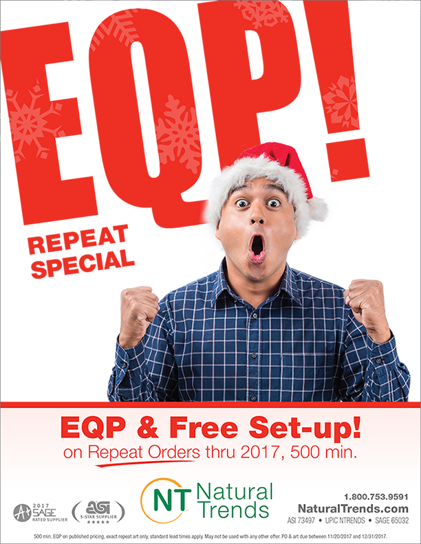 End Column Pricing & Free Set-up on ALL Repeat Orders through 2017!