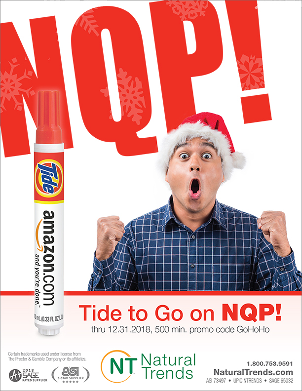 NQP on Tide to Go, from Natural Trends.  1-800-753-9591.